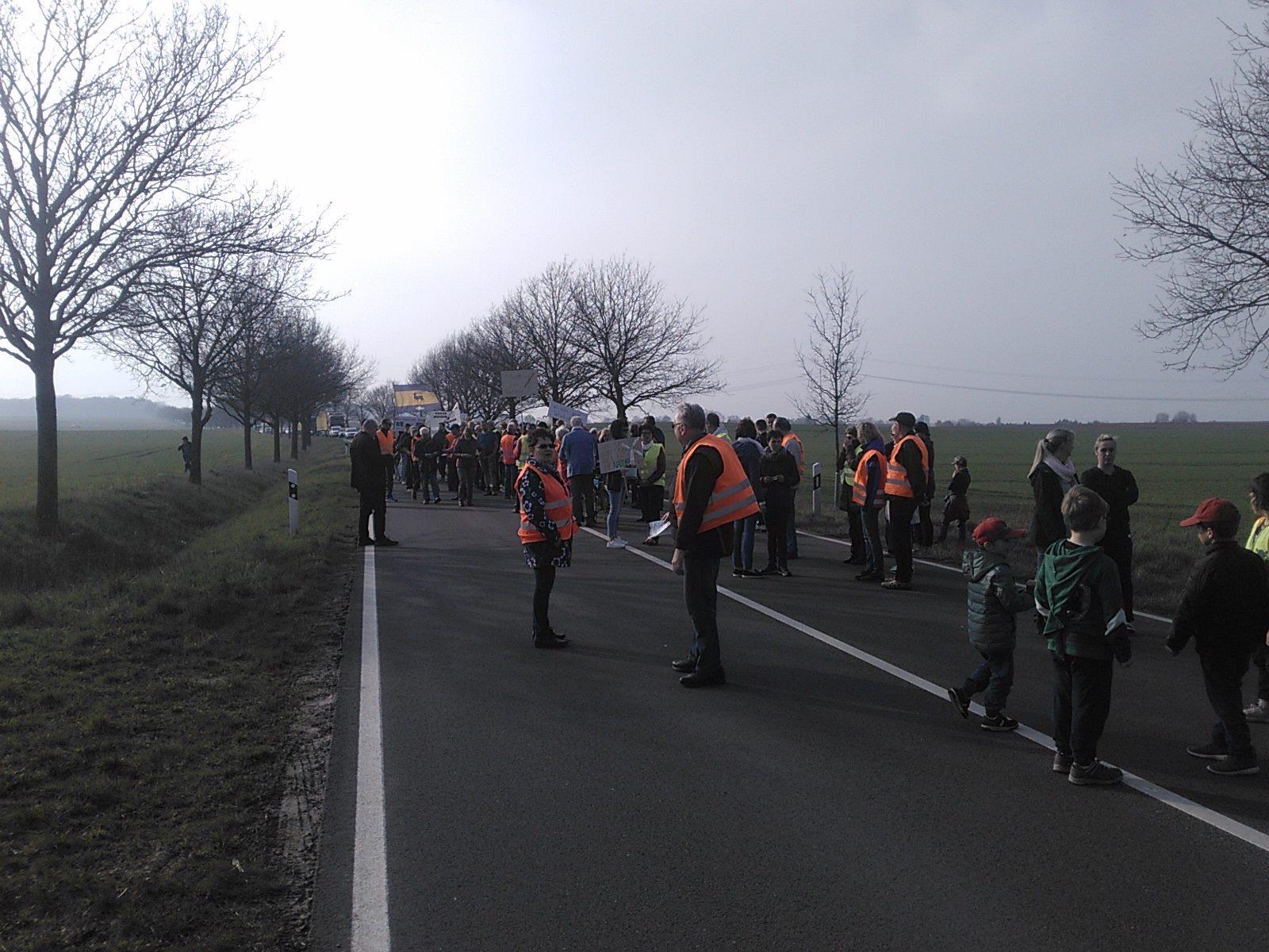 Freitag Demo Wessin für Moratorium Windenergie Freier Horizont